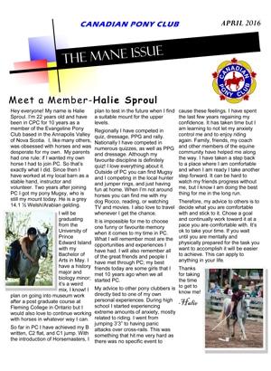Mane Issue April 2016
