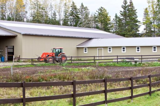 facility barn and tractor